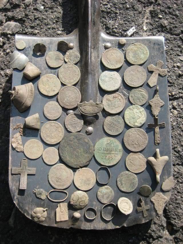 находки монеты с распаханного села металлодетектор