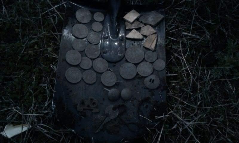 монеты найденные в земле