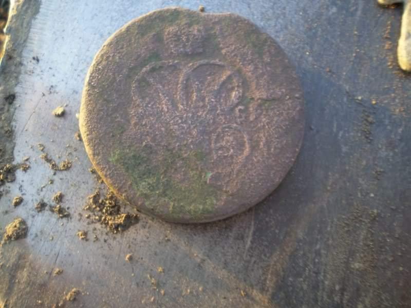 2 копейки 1759 год монета металлодетектор б у