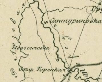 сантуриновка на карте 1810 года